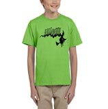 Flying Halloween Kids T Shirt-T Shirts-Gildan-kiwi-YXS (3-5 Year)-Daataadirect