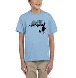 Flying Halloween Kids T Shirt-T Shirts-Gildan-light blue-YXS (3-5 Year)-Daataadirect