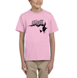 Flying Halloween Kids T Shirt-T Shirts-Gildan-light pink-YXS (3-5 Year)-Daataadirect