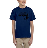 Flying Halloween Kids T Shirt-T Shirts-Gildan-navy-YXS (3-5 Year)-Daataadirect