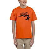 Flying Halloween Kids T Shirt-T Shirts-Gildan-orange-YXS (3-5 Year)-Daataadirect