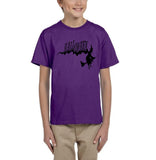 Flying Halloween Kids T Shirt-T Shirts-Gildan-purple-YXS (3-5 Year)-Daataadirect