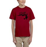 Flying Halloween Kids T Shirt-T Shirts-Gildan-red-YXS (3-5 Year)-Daataadirect