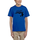 Flying Halloween Kids T Shirt-T Shirts-Gildan-royal-YXS (3-5 Year)-Daataadirect
