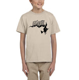 Flying Halloween Kids T Shirt-T Shirts-Gildan-sand-YXS (3-5 Year)-Daataadirect