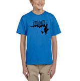 Flying Halloween Kids T Shirt-T Shirts-Gildan-sapphire-YXS (3-5 Year)-Daataadirect