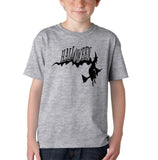 Flying Halloween Kids T Shirt-T Shirts-Gildan-sport grey-YXS (3-5 Year)-Daataadirect