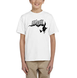 Flying Halloween Kids T Shirt-T Shirts-Gildan-white-YXS (3-5 Year)-Daataadirect