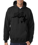 "Flying Halloween Mens Hoodies-Hoodies-Gildan-black -S To Fit Chest 36-38"" (91-96cm)-Daataadirect"