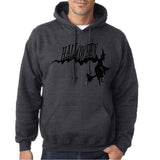 "Flying Halloween Mens Hoodies-Hoodies-Gildan-dark heather-S To Fit Chest 36-38"" (91-96cm)-Daataadirect"