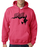 "Flying Halloween Mens Hoodies-Hoodies-Gildan-heliconia-S To Fit Chest 36-38"" (91-96cm)-Daataadirect"