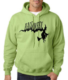 "Flying Halloween Mens Hoodies-Hoodies-Gildan-kiwi-S To Fit Chest 36-38"" (91-96cm)-Daataadirect"