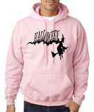"Flying Halloween Mens Hoodies-Hoodies-Gildan-light pink-S To Fit Chest 36-38"" (91-96cm)-Daataadirect"