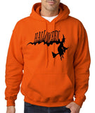 "Flying Halloween Mens Hoodies-Hoodies-Gildan-orange-S To Fit Chest 36-38"" (91-96cm)-Daataadirect"