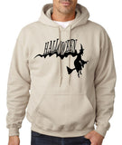 "Flying Halloween Mens Hoodies-Hoodies-Gildan-sand-S To Fit Chest 36-38"" (91-96cm)-Daataadirect"