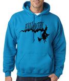 "Flying Halloween Mens Hoodies-Hoodies-Gildan-sapphire-S To Fit Chest 36-38"" (91-96cm)-Daataadirect"