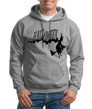 "Flying Halloween Mens Hoodies-Hoodies-Gildan-SportGrey-S To Fit Chest 36-38"" (91-96cm)-Daataadirect"