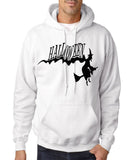 "Flying Halloween Mens Hoodies-Hoodies-Gildan-white-S To Fit Chest 36-38"" (91-96cm)-Daataadirect"