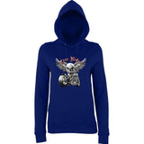 "Free Rider Motorbike Skull Women Hoodies-Hoodies-AWD-New French Navy-XS UK 8 Euro 32 Bust 30""-Daataadirect"