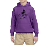 Frequent Flyer Kids Hoodies Black-Gildan-Daataadirect.co.uk