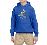 Frequent Flyer Kids Hoodies Gold-Gildan-Daataadirect.co.uk