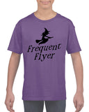Frequent flyer Kids T Shirt Black-T Shirts-Gildan-cobalt-YXS (3-5 Year)-Daataadirect