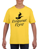Frequent flyer Kids T Shirt Black-T Shirts-Gildan-daisy-YXS (3-5 Year)-Daataadirect
