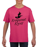 Frequent flyer Kids T Shirt Black-T Shirts-Gildan-heliconia-YXS (3-5 Year)-Daataadirect