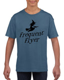 Frequent flyer Kids T Shirt Black-T Shirts-Gildan-indigo blue-YXS (3-5 Year)-Daataadirect