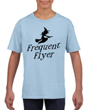Frequent flyer Kids T Shirt Black-T Shirts-Gildan-light blue-YXS (3-5 Year)-Daataadirect