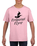 Frequent flyer Kids T Shirt Black-T Shirts-Gildan-light pink-YXS (3-5 Year)-Daataadirect