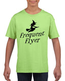 Frequent flyer Kids T Shirt Black-T Shirts-Gildan-mint green-YXS (3-5 Year)-Daataadirect
