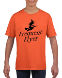 Frequent flyer Kids T Shirt Black-T Shirts-Gildan-orange-YXS (3-5 Year)-Daataadirect