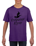 Frequent flyer Kids T Shirt Black-T Shirts-Gildan-purple-YXS (3-5 Year)-Daataadirect