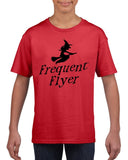 Frequent flyer Kids T Shirt Black-T Shirts-Gildan-red-YXS (3-5 Year)-Daataadirect