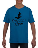Frequent flyer Kids T Shirt Black-T Shirts-Gildan-royal-YXS (3-5 Year)-Daataadirect