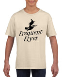 Frequent flyer Kids T Shirt Black-T Shirts-Gildan-sand-YXS (3-5 Year)-Daataadirect