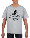 Frequent flyer Kids T Shirt Black-T Shirts-Gildan-sport grey-YXS (3-5 Year)-Daataadirect