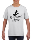 Frequent flyer Kids T Shirt Black-T Shirts-Gildan-white-YXS (3-5 Year)-Daataadirect