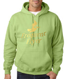 Frequent Flyer Mens Hoodies Gold-Gildan-Daataadirect.co.uk