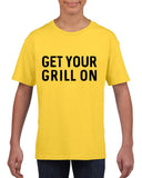 Get your grill on Black Kids T Shirt-T Shirts-Gildan-Daisy-YXS (3-5 Year)-Daataadirect