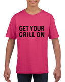 Get your grill on Black Kids T Shirt-T Shirts-Gildan-Helconia-YXS (3-5 Year)-Daataadirect