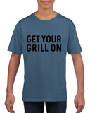 Get your grill on Black Kids T Shirt-T Shirts-Gildan-Indigo Blue-YXS (3-5 Year)-Daataadirect
