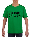 Get your grill on Black Kids T Shirt-T Shirts-Gildan-Irish Green-YXS (3-5 Year)-Daataadirect