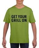 Get your grill on Black Kids T Shirt-T Shirts-Gildan-Kiwi-YXS (3-5 Year)-Daataadirect