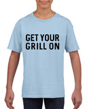 Get your grill on Black Kids T Shirt-T Shirts-Gildan-Light Blue-YXS (3-5 Year)-Daataadirect