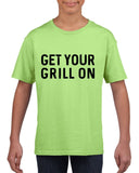 Get your grill on Black Kids T Shirt-T Shirts-Gildan-Mint Green-YXS (3-5 Year)-Daataadirect