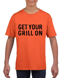 Get your grill on Black Kids T Shirt-T Shirts-Gildan-Orange-YXS (3-5 Year)-Daataadirect