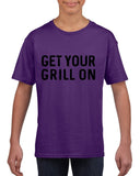 Get your grill on Black Kids T Shirt-T Shirts-Gildan-Purple-YXS (3-5 Year)-Daataadirect