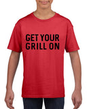 Get your grill on Black Kids T Shirt-T Shirts-Gildan-Red-YXS (3-5 Year)-Daataadirect